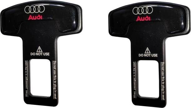 AutoRight Set of 2 Car Safety Alarm Stopper Null Insert Seat Belt Buckle Clip for All Cars (Audi Design) Seat Belt Buckle