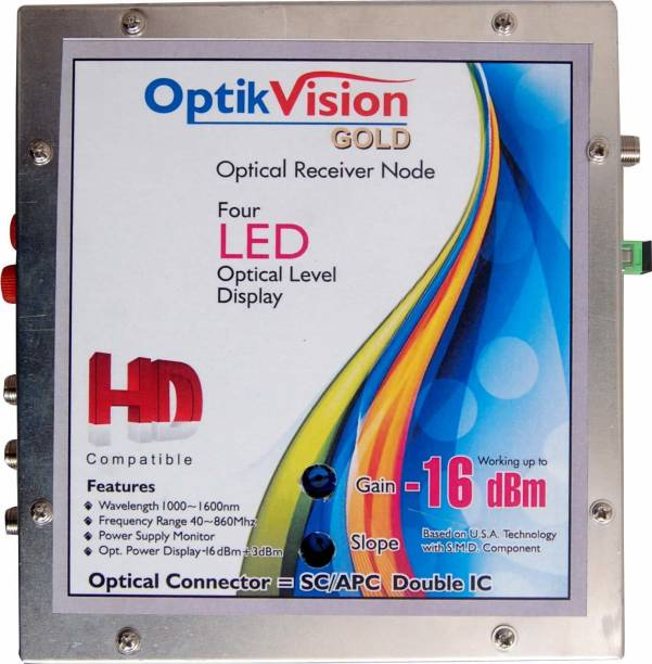 optik vision gold Optical Receiver Double IC Metal Node -16dbm Media Streaming Device