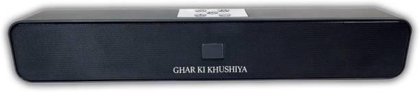 ghar ki khushiya Bluetooth Sound Bar Speaker 5 W Bluetooth Speaker (Black, Stereo Channel) 5 W Bluetooth Soundbar