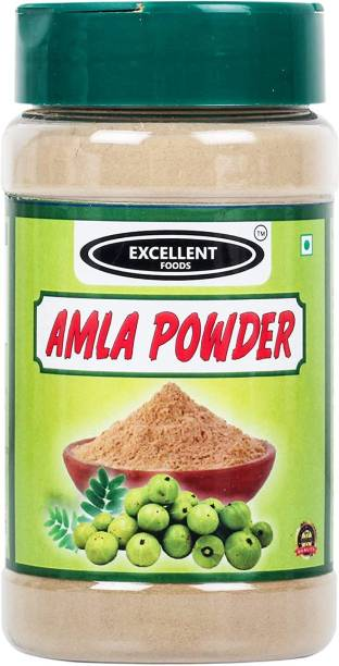 Excellent Foods Pure Amla Powder / Indian Gooseberry 150 Grams   Fresh & Pure   No Colors Added   Gluten Free   NON-GMO   Perfect Aroma