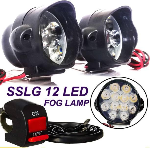 PBTA 12 LED Round Fog Light Spot Driving Lamp Universal for Car, Bike and Motorcycle Headlight, Fog Lamp, Dash Light Motorbike, Car, Van, Truck LED (12 V, 30 W)
