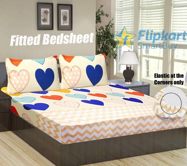 Flipkart SmartBuy 144 TC Microfiber Double Abstract Bedsheet