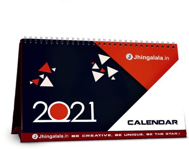 Jhingalala Table Calendar, Desk Calendar and Planner with Inspirational Quotes 2021 Table Calendar