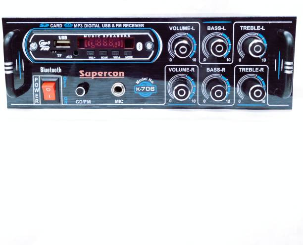 SUPERCON Stereo Amplifier 1003 With USB/FM/Bloothuth/SD CARD/MP-4 Mono Class B Car Amplifier