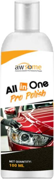 AWSOME Paste Car Polish for Bumper, Metal Parts, Dashboard, Exterior, Leather, Tyres