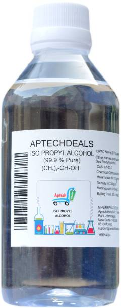 APTECHDEALS IPA Iso-Propyl Alcohol 99.9% [(CH3)2-CH-OH] CAS: 67-63-0, 250ml for Computers, Laptops, Mobiles
