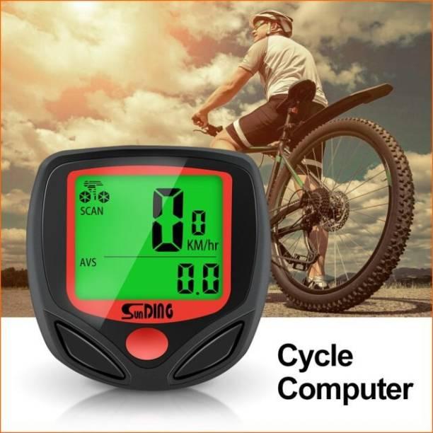 Huayue ™ 15 Function Cycle Speedometer Digital LCD Speedometer for Bicycle Bike Meter Wired Cyclocomputer