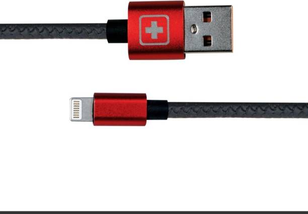 SWISS MILITARY Fast Charging 1.2 Mtr USB Lightning Data Cable with Fishtail Connector with Snake Pattern(Compatible with All USB devices) 1.2 m Lightning Cable