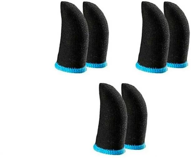 naksh collection Pubg Anti-Slip Thumb Sleeve Pack Of 3 Pair Black & Sky Blue  Gaming Accessory Kit