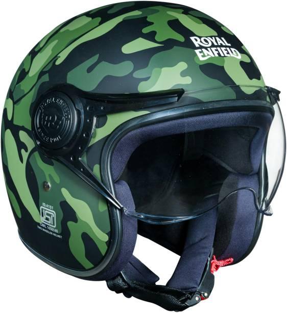 ROYAL ENFIELD Crackling Camo Jet Motorbike Helmet