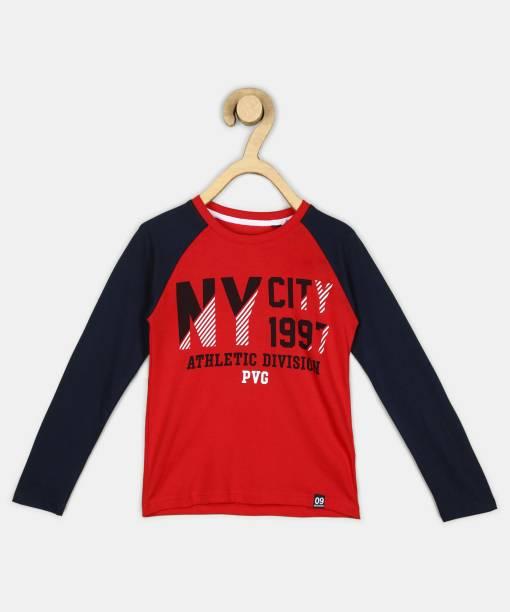 PROVOGUE Boys Printed Pure Cotton T Shirt