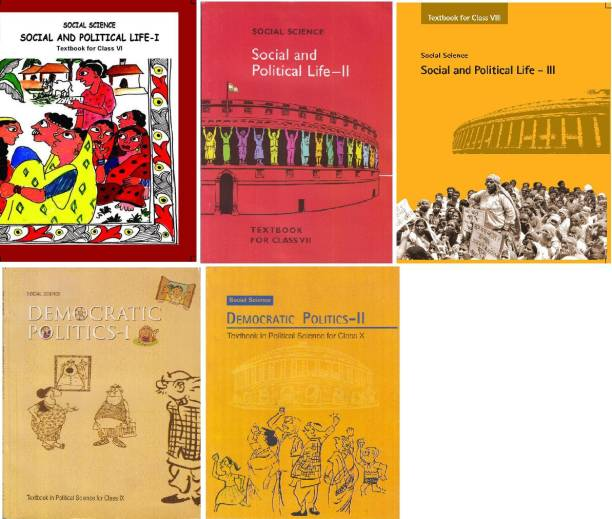 Ncert Textbook For Class 6TH TO 10TH ( Political Science) Combo Set OF 5