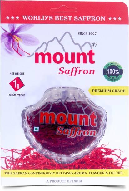 Mount Saffron Organic Kashmiri Saffron 2 gm, Original Kesar Premium A++ Grade (1) [Pack of 2]