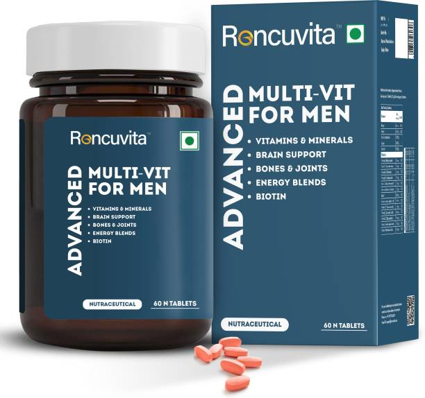 RONCUVITA Multivitamins for Men, with Biotin For Brain Support, Bones & Joints