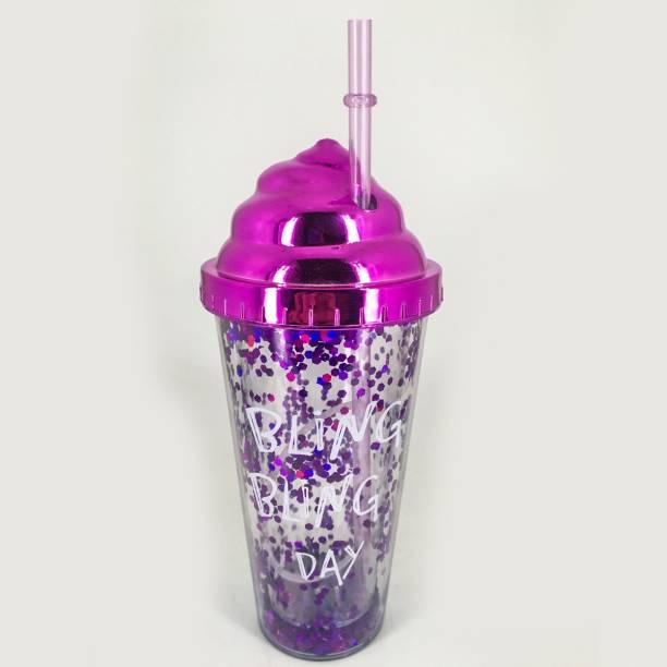 Elegant Lifestyle Water Bottle Mason Jar Tumbler with Straw for Kids 600 ml Sipper