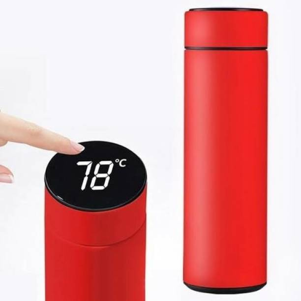 WESFRA Water Bottle with LED Temperature Display 500ml Red 500 ml Flask