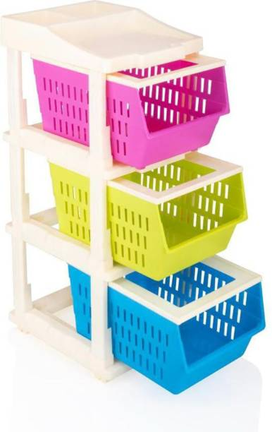 HUMBLE KART Plastic Free Standing Chest of Drawers