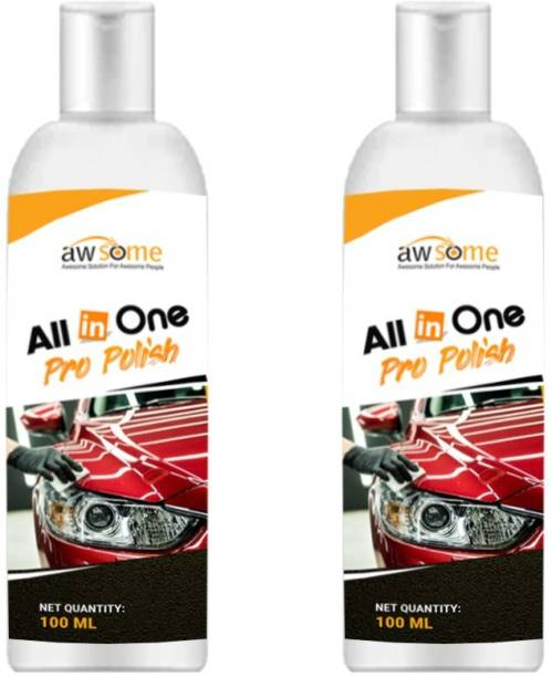 AWSOME Paste Car Polish for Dashboard, Metal Parts, Bumper, Tyres, Exterior, Leather