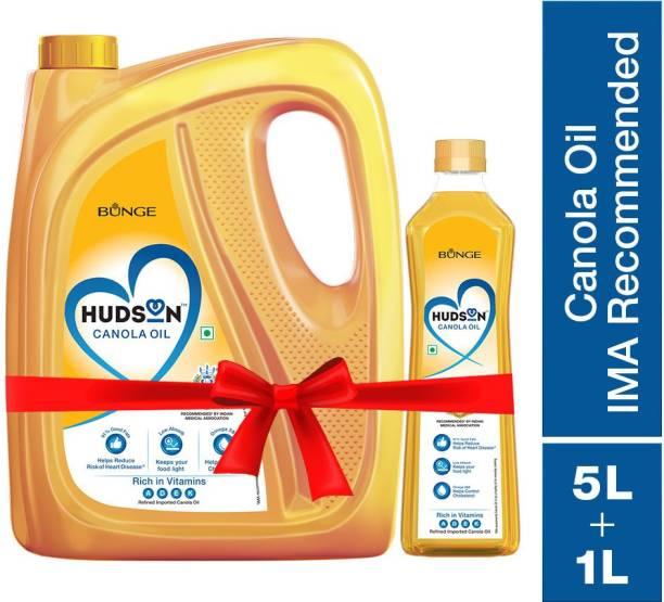 Hudson Rich in Vitamins Canola Oil Can