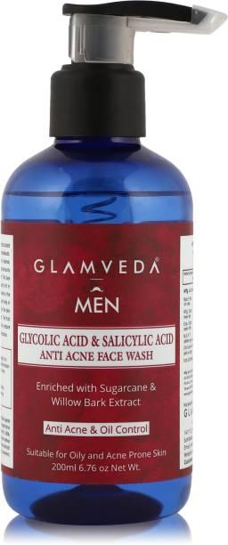 GLAMVEDA MEN Glycolic Acid & Salicylic Acid Anti Acne  Face Wash