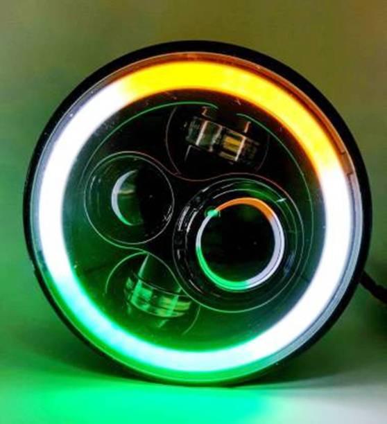 Bell 10 LED Headlight for Royal Enfield, Mahindra Bullet 350, Bullet Trials 350, Bullet Trials 500, Thar