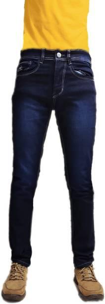 CEFALU Slim Men Dark Blue Jeans