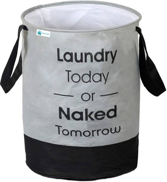 Unicrafts 45 L Grey Laundry Bag