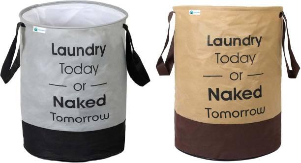 Unicrafts 45 L Grey, Beige Laundry Bag