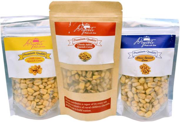 DRYCOTS Combo of Lime, cheese and classic salted spanish corns 200 gm each