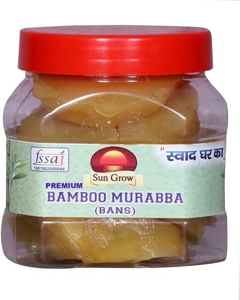 Sun Grow Homemade Tasty & Pure Natural Organic Homemade Premium Bamboo Murabba with 100% Fresh Bamboo and Healthy Ingredients (500 grams) Bamboo Murabba