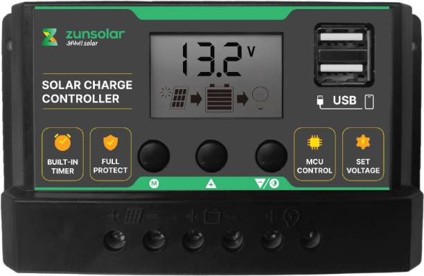 ZunSolar 10 Ampere 12/24 Volts (ZS10) PWM Solar Charge Controller