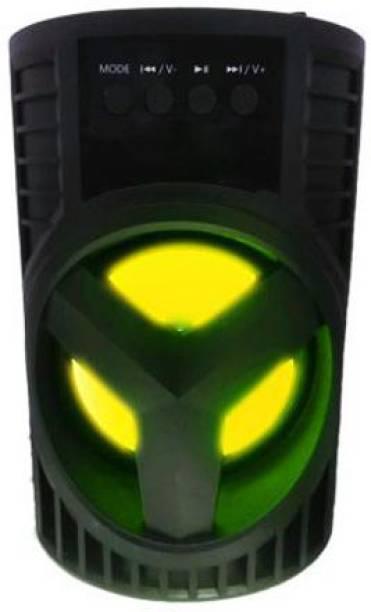 IMMUTABLE 74 _ RT-IPOD-S DE-03R 3D Sound| Splashproof| Water Resistant| Wireless Led Light |Deep Baas Stereo subwoofer Sound System | Mini Home Theatre|DJ Light Carry Handle Speaker| FM Radio | Long Hour Battery Life 15 W Bluetooth Speaker