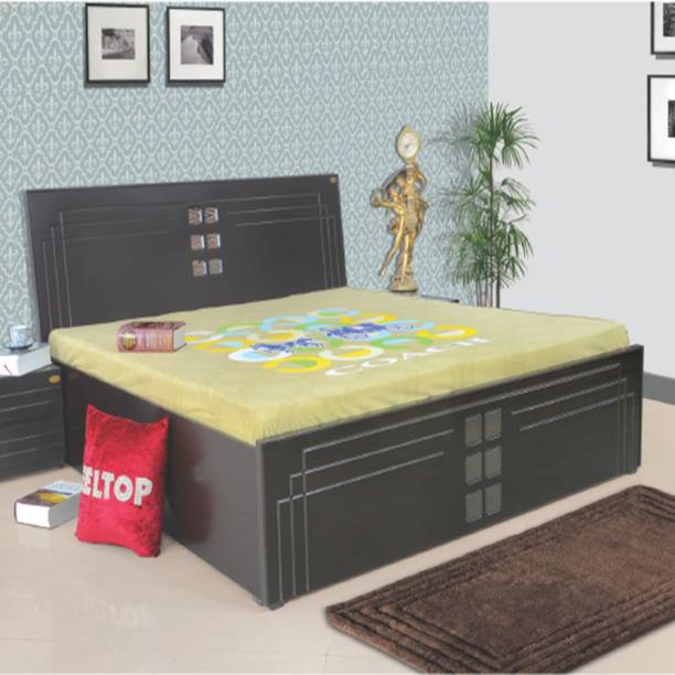 ELTOP Wooden Furniture double bed with box storage Engineered Wood Queen Hydraulic, Box Bed