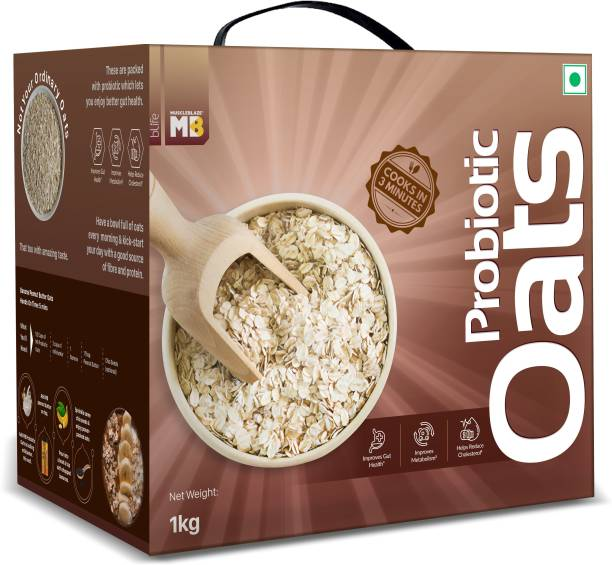 MuscleBlaze by MuscleBlaze Probiotic Oats, Good For Gut Health, Healthy Breakfast Cereal For Adults