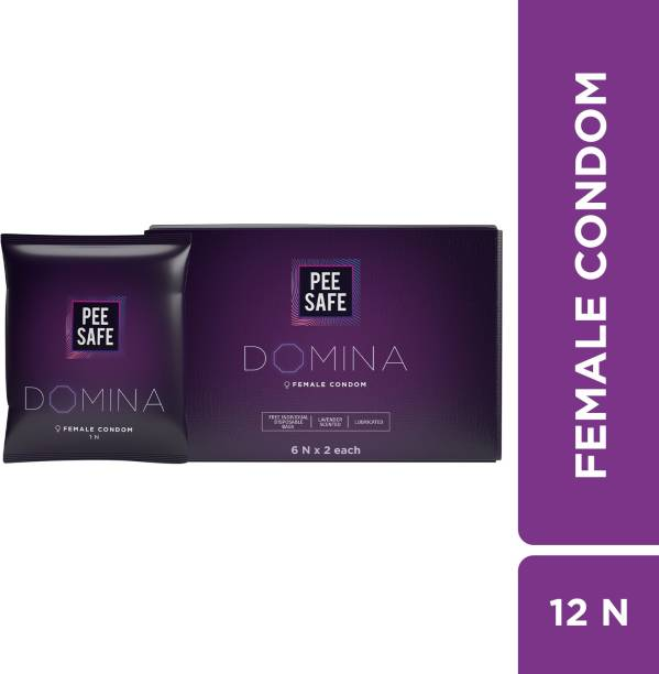 Pee Safe Domina Female Condom - Pack of 12 | With Disposable Bags Condom