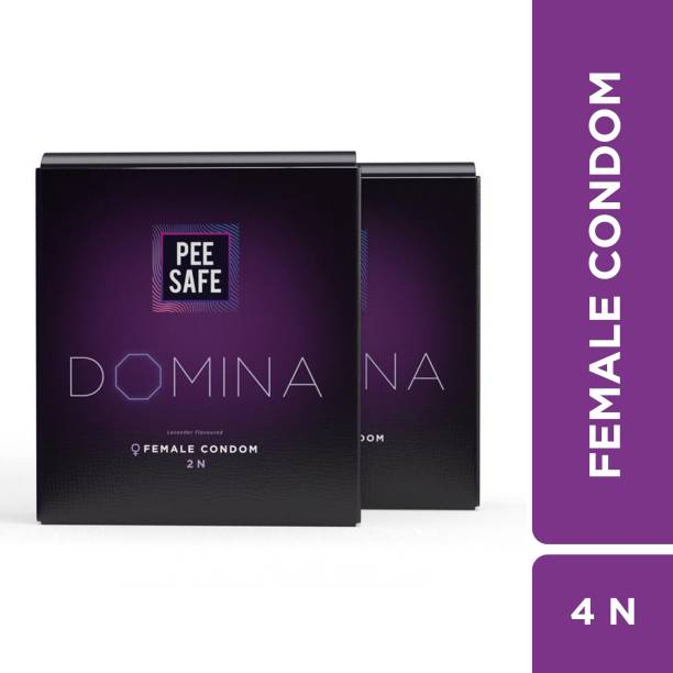 Pee Safe Domina Female Condom - Pack of 4 | With Disposable Bags Condom