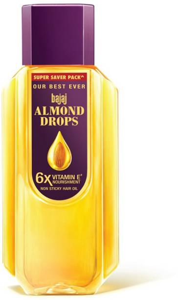 BAJAJ Almond Drops Hair Oil enriched with 6X Vitamin E, Reduces Hair Fall, 650 ml Hair Oil