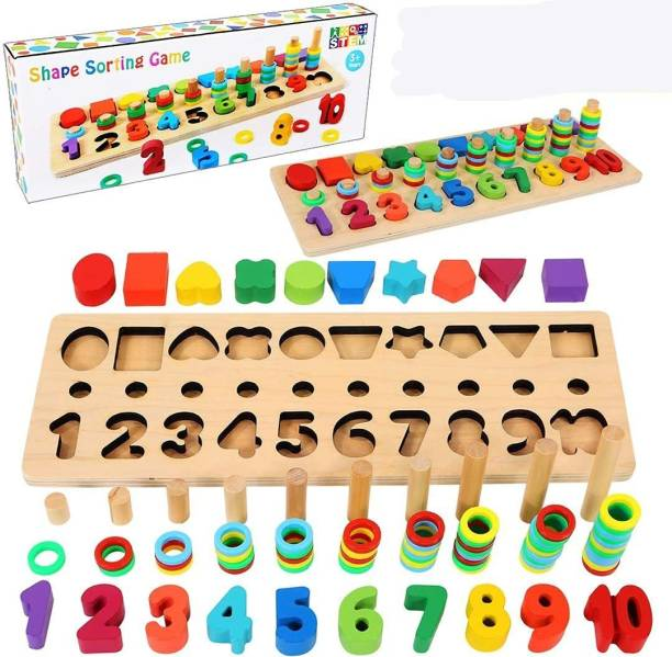 KidzBell Wooden Puzzle Board for Kids, Preschool Educational Teaching Toy for Boys and Girls (Capital & Small Alphabets)