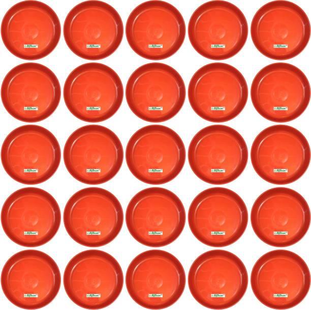 RGDECOR 25 Pcs. - 8 Inch Premium Quality Saucer - Base Plate for Plant Pots Plant Container Set
