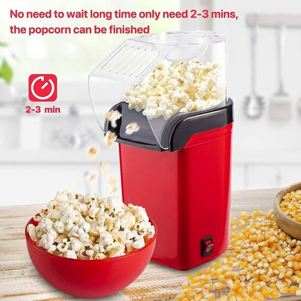 Infinity Creation OIL AND SALT FREE New Air Popcorn Popper Electric Machine and Snack Maker with Removable Lid 1200w ( DO NOT USE OIL, SALT AND WATER) Hot-Instant oil free Popcorn Making machine 400 g Popcorn Maker