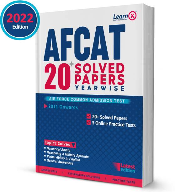 AFCAT Solved Papers [Year-Wise] With 3 Online Practice Tests