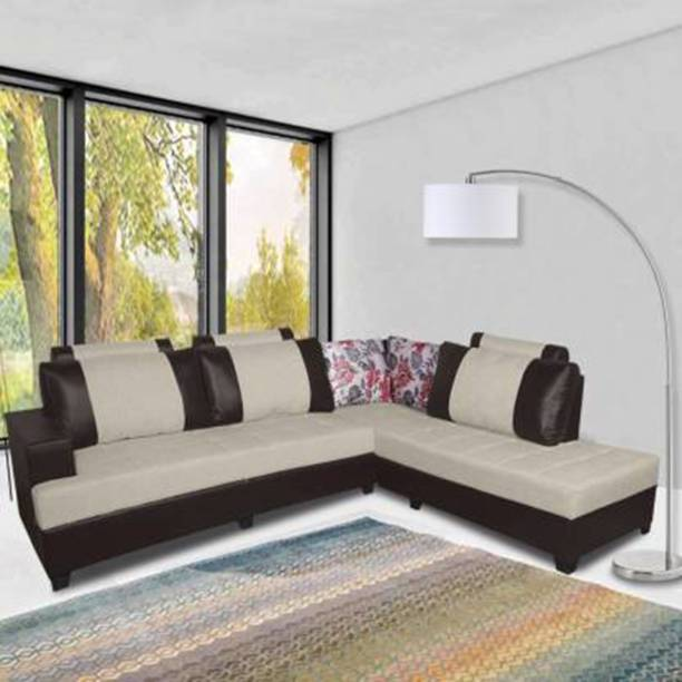 ELTOP Lifestyle Corner L-Shape Fabric 6 Seater  Sofa