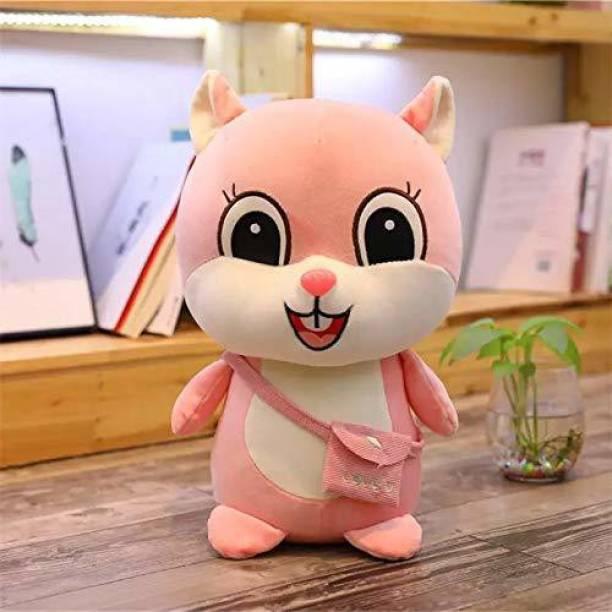 """Hello Baby """"Super Soft Squirrel Soft Toy 35Cm-Pink """"  - 12 inch"""