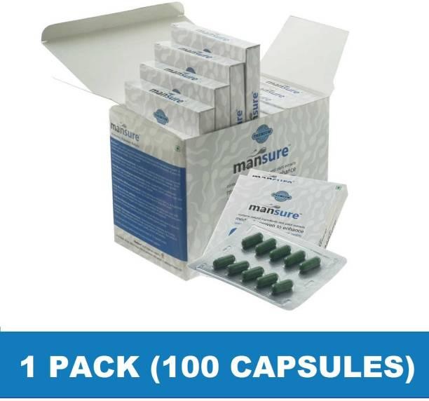 ManSure Ayurvedic Reproductive Health Supplement for Men – 1 Box (100 Capsules)