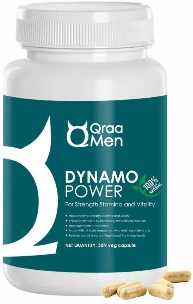 Qraa Dynamo Power Tab For Strength, Stamina & Vitality   Pack of 60 Capsules