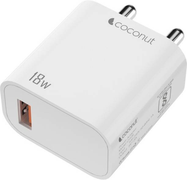 Coconut Speed QC 18 W 3 A Mobile Charger