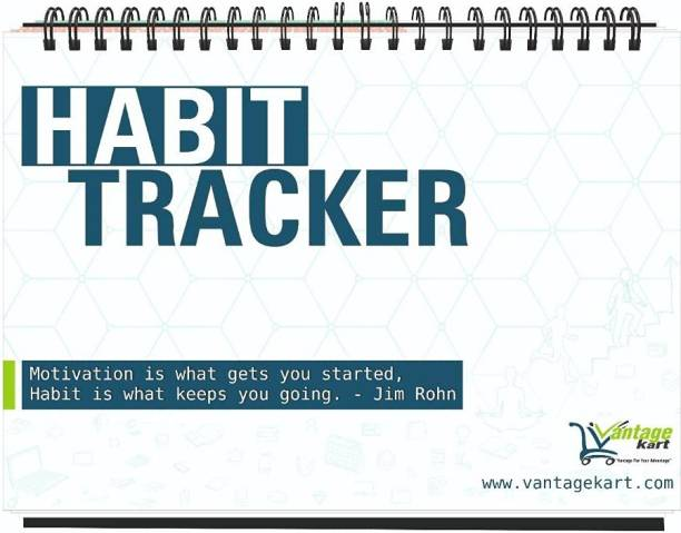 Vantagekart Habit Tracker Daily, Weekly and Monthly Planner (undated), Fits Perfectly at Your Desk Any Table Calendar