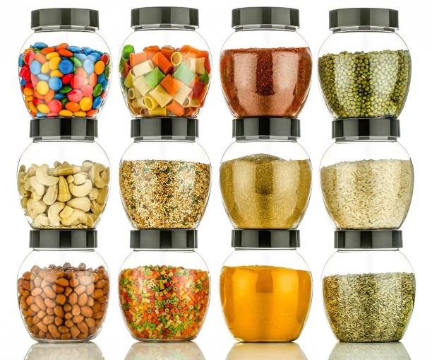 Flipkart SmartBuy Air Tight Modular Kitchen Plastic Storage Containers Jars Canister Box Combo Set  - 400 ml Plastic Grocery Container