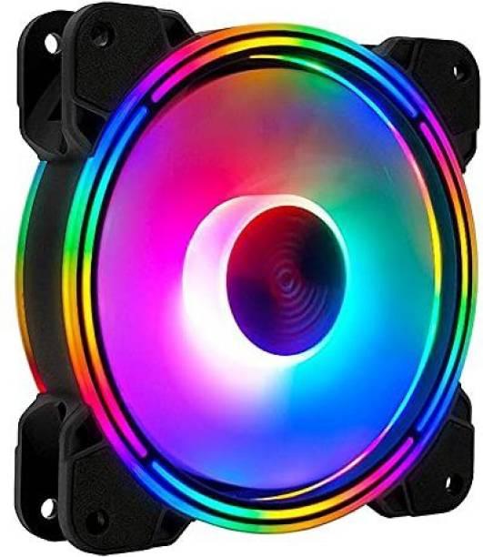 US1984 RGB Fans 120mm RGB Case Fans, Dual Light Loop RGB LED Fans, RGB Gaming PC Fans, Quiet Cooling Computer Fans Cooler Cooler