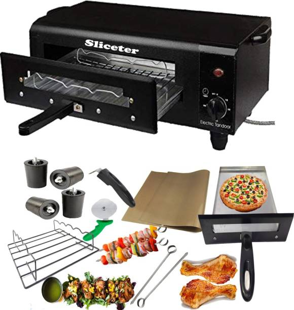 SLICETER Electric Timer Tandoor Light Weight and Elegant Look with Accessories Pizza Maker